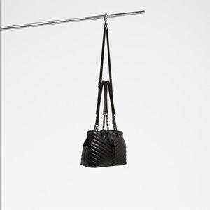 Aldo Black Maewiel Shoulder Tassel Bag